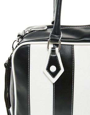 Image 4 ofASOS Multi Stripe Bowler Bag