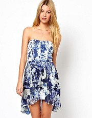 French Connection Woodblock Wonder Strapless Dress