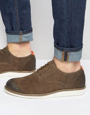 Bellfield Oxford Shoe In Brown Suede