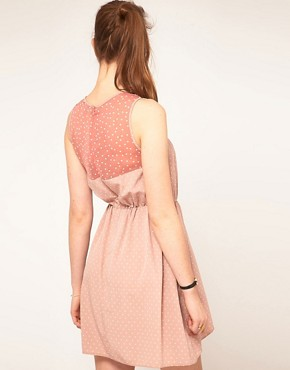 Image 2 ofASOS Spot Dress with Contrast Spot