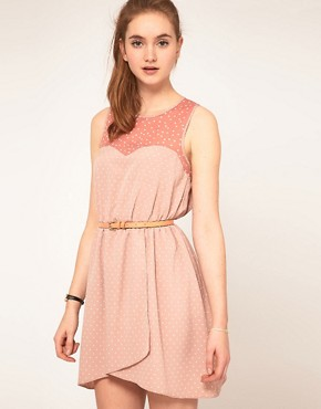 Image 1 ofASOS Spot Dress with Contrast Spot
