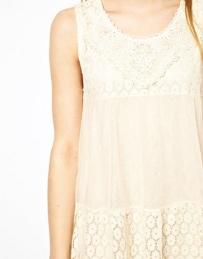 Image 3 ofMina Lace Mix Dress