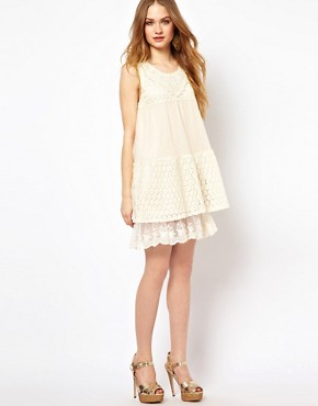 Image 4 ofMina Lace Mix Dress