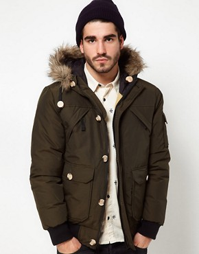 Image 1 ofPenfield Canyon Short Parka with Faux Fur Hood