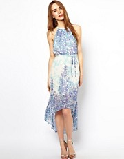 Warehouse Printed Midi Dress