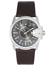 Diesel Printed Leather Strap Watch