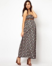 New Look Maternity Printed Bandeau Maxi