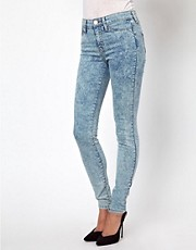 River Island Molly Skinny Jean In Acid Wash