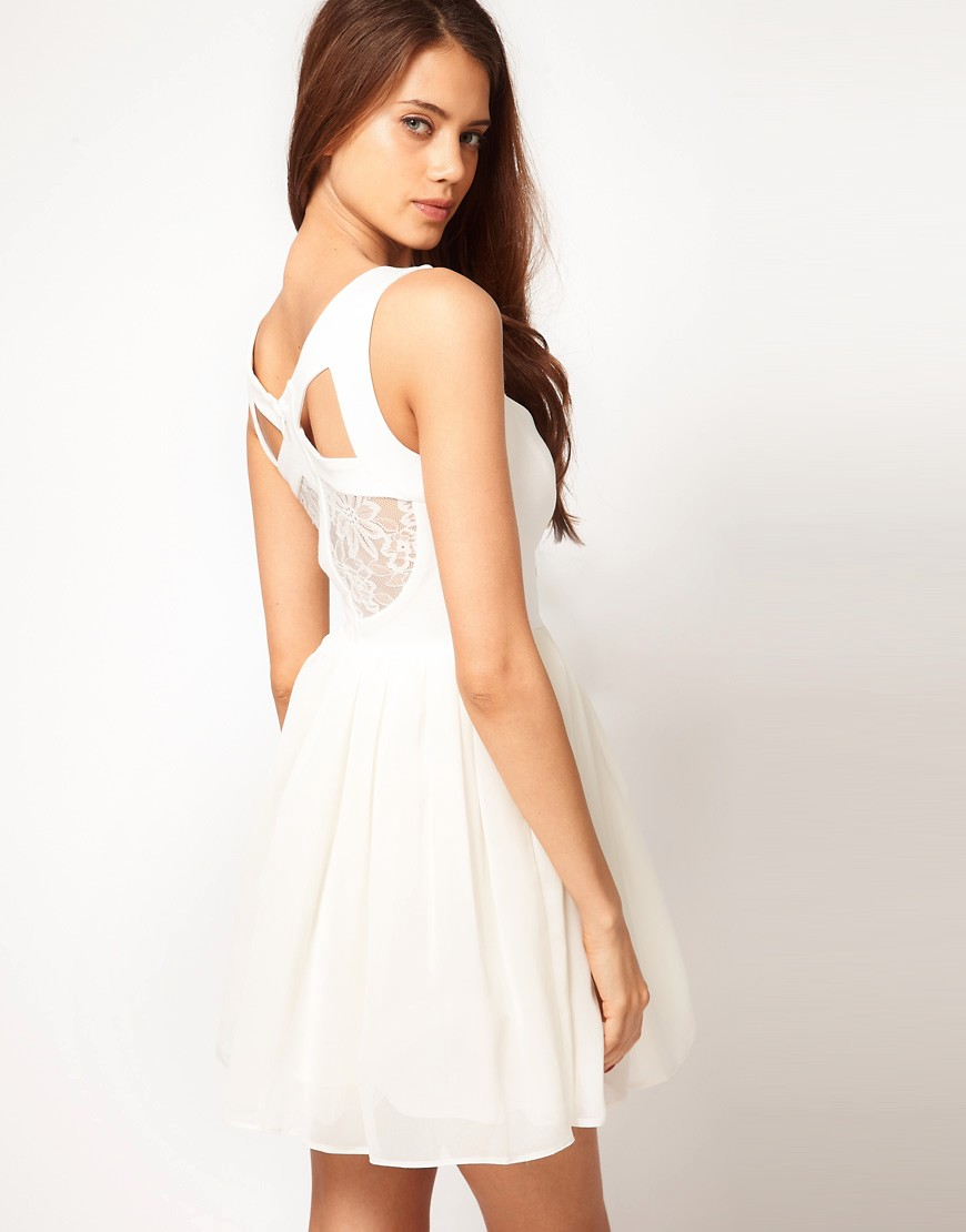 Image 1 of ASOS Prom Dress With Lace Back Detail