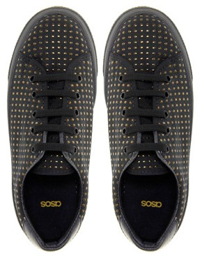 Image 3 of ASOS DEAL Studded Flatform Trainers