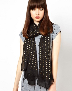 Image 1 ofASOS All Over Stud Scarf