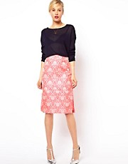 ASOS Pencil Skirt in Statement Fluro Jacquard