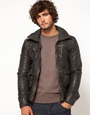 Superdry Tarpit Leather Jacket