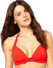 Calvin Klein Solid Retro Halter Bikini Top