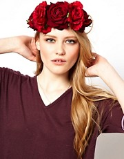 Rock &#39;n&#39; Rose Beatrice Oversized Floral Crown Head Band