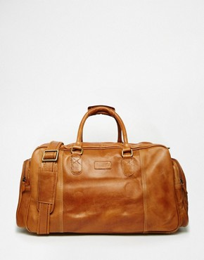 Racing Green Leather Holdall