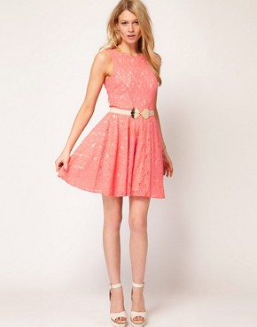 Image 4 ofOasis Lace Fit And Flare Dress
