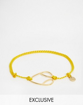 Daisy London Exclusive Laura Whitmore Gold Friendship Bracelet