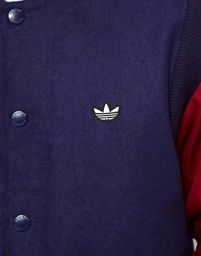 Image 3 of Adidas Originals Varsity Jacket Wool