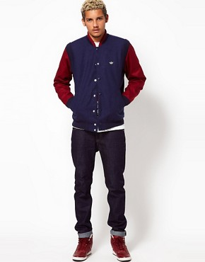Image 4 of Adidas Originals Varsity Jacket Wool