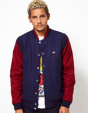 Image 1 of Adidas Originals Varsity Jacket Wool