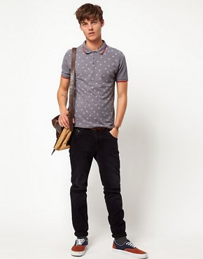 Image 4 ofASOS Polo With Paisley Print And Contrast Tipping