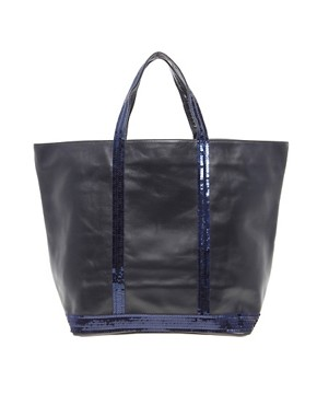 Image 1 of Vanessa Bruno Athe Leather And Sequin Shopper