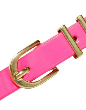 Image 2 ofASOS Neon Metal Keeper Super Skinny Waist Belt