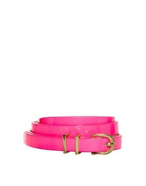 Image 1 ofASOS Neon Metal Keeper Super Skinny Waist Belt