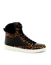 ASOS Trainers With Leopard Print
