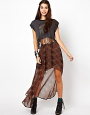 Lucca Couture Printed Hi Lo Skirt