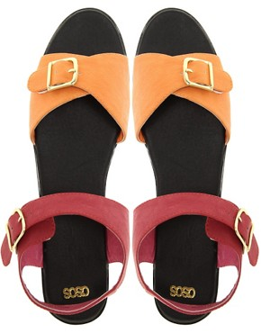 Image 3 ofASOS VOLCANO Flatform Sandals with Chunky Sole