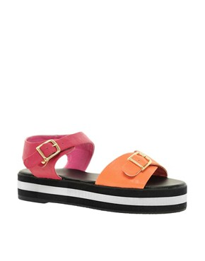 Image 1 ofASOS VOLCANO Flatform Sandals with Chunky Sole