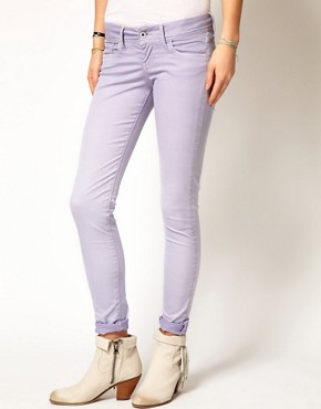 Image 1 ofPepe Jeans Skittle Pastel Skinny Jeans