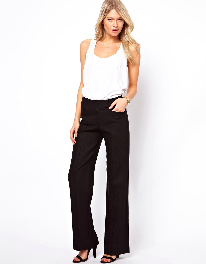 Image 1 of ASOS Linen Trousers In Wide Leg