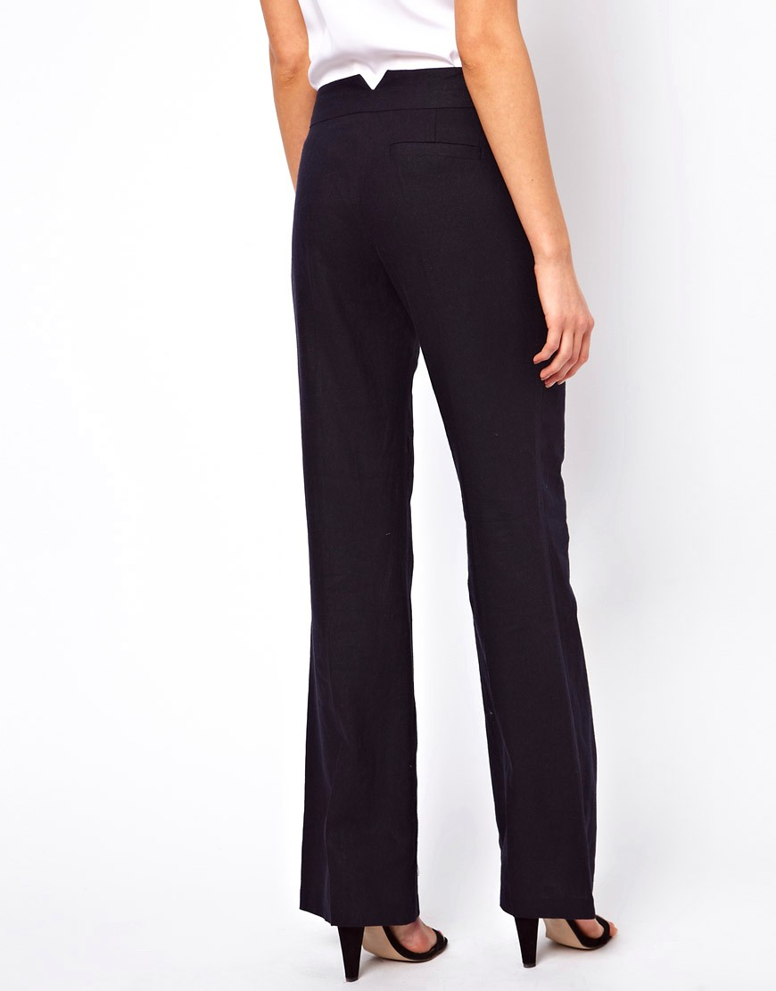 Image 2 of ASOS Linen Trousers In Wide Leg