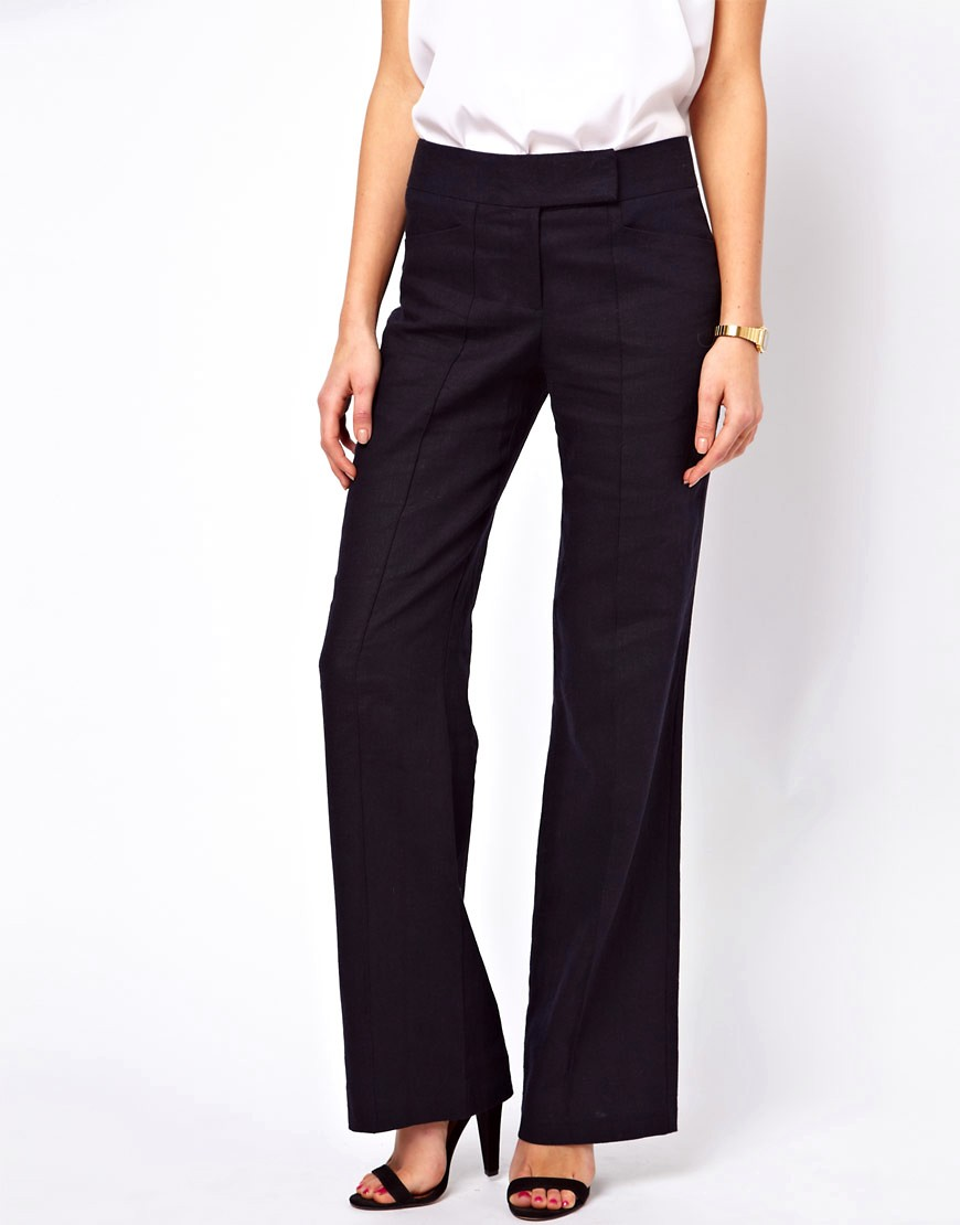 Image 4 of ASOS Linen Trousers In Wide Leg