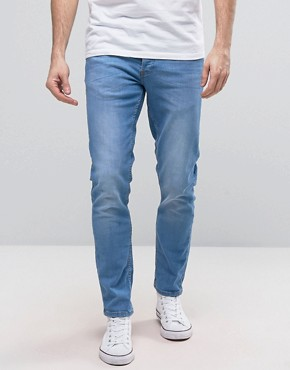 River Island Skinny Jeans In Light Blue