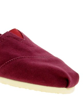 Image 2 ofTOMS Classic Canvas Burgundy Flat Shoes