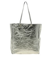 Sara Berman Metallic Leather Remi Tote Bag