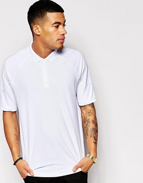 ASOS Overszied Polo Shirt In Mesh With Contrast Trim