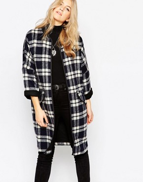 Parka London Long Check Coat