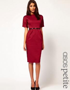Image 1 ofASOS PETITE Pencil Dress In Wiggle Shape