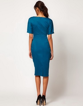 Image 2 ofASOS PETITE Pencil Dress In Wiggle Shape