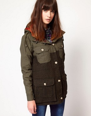 Image 1 ofPenfield Kasson Tweed Anorak Jacket