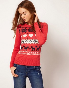 Image 1 ofA Wear Reindeer Jumper