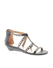 New Look Gosh Low Studded Wedge Sandals