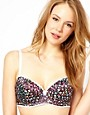Image 1 ofPour Moi In The Pink Floral Padded Bra