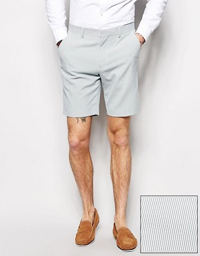 ASOS Slim Fit Shorts In Ticking Stripe