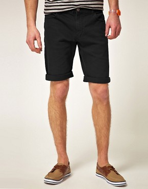 Image 1 ofASOS Denim Short In Black